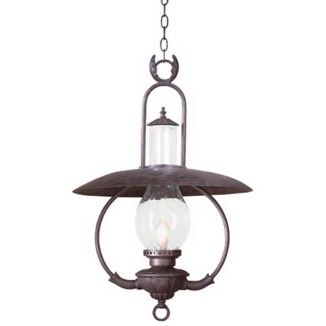 "La Grange 30"" High Outdoor Hanging Lantern Fixture"