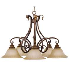 Sonoma Valley Collection Five Downlight Chandelier