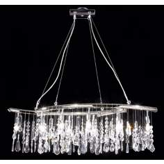 James R. Moder Adjustable Broadway Oval Chandelier