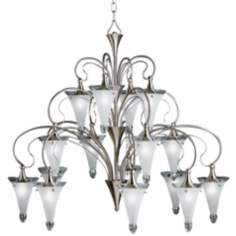 "Fontaine Brushed Nickel 41"" Wide Brushed Nickel Chandelier"