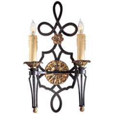 "Metropolitan Montparnasse Black 20"" High Wall Sconce"