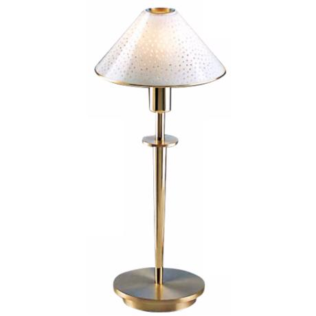 Brushed Brass and Pearl Glass Mini Holtkoetter Desk Lamp