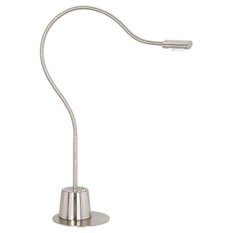LED Extended Gooseneck Brushed Nickel Desk Lamp