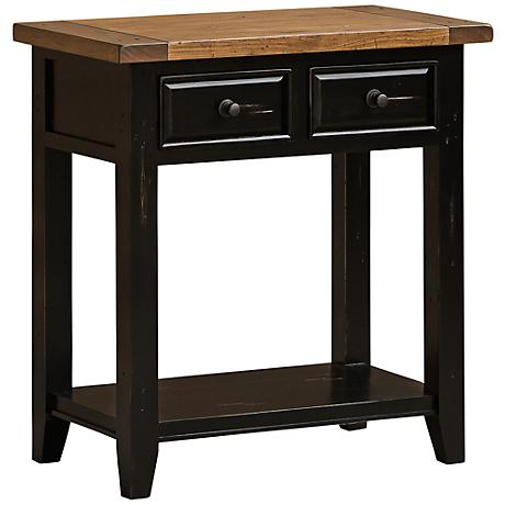 Hillsdale Tuscan Retreat 2-Drawer Oxford Black Hall Table