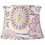 Purple Flowers Drum Lamp Shade 14x16x11.5 (Spider)