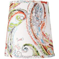 Blurred Paisley Cone Lamp Shade 8x10.5x11.5 (Spider)