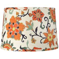 Harvest Flowers Drum Lamp Shade 14x16x11 (Spider)