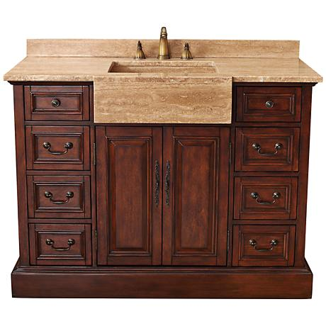 "James Martin Toscano 48"" Wide Cherry Bathroom Vanity"