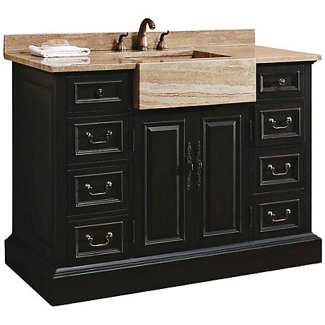 "James Martin Toscano 48"" Wide Espresso Bathroom Vanity"