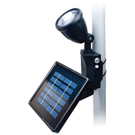 Black Outdoor Solar LED Flagpole Light