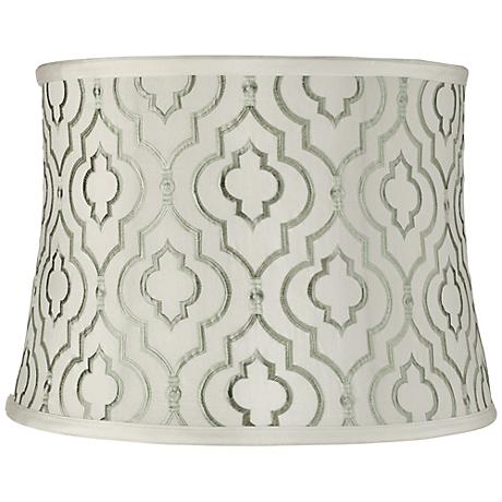 Taj Sea Green Drum Lamp Shade 14x16x11.5 (Spider)