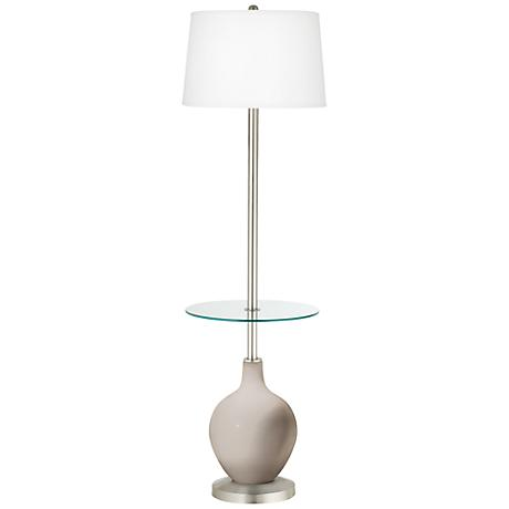 Pediment Ovo Tray Table Floor Lamp