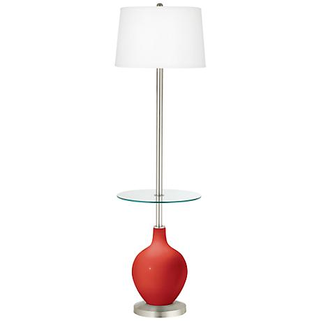 Cherry Tomato Ovo Tray Table Floor Lamp