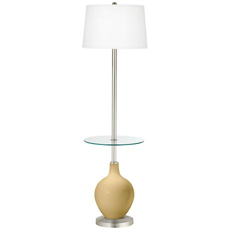 Humble Gold Ovo Tray Table Floor Lamp