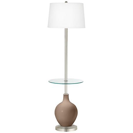 Mocha Ovo Tray Table Floor Lamp