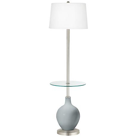 Uncertain Gray Ovo Tray Table Floor Lamp
