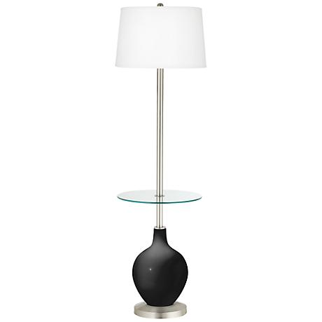 Tricorn Black Ovo Tray Table Floor Lamp
