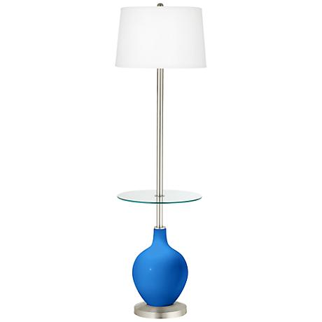 Royal Blue Ovo Tray Table Floor Lamp
