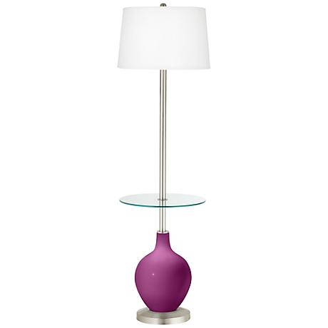 Verve Violet Ovo Tray Table Floor Lamp
