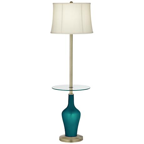 Magic Blue Metallic Anya Tray Table Floor Lamp