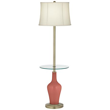 Brick Paver Anya Tray Table Floor Lamp