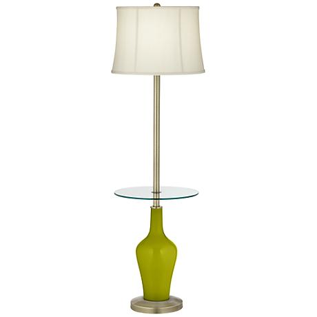 Olive Green Anya Tray Table Floor Lamp
