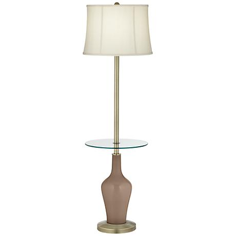 Mocha Anya Tray Table Floor Lamp