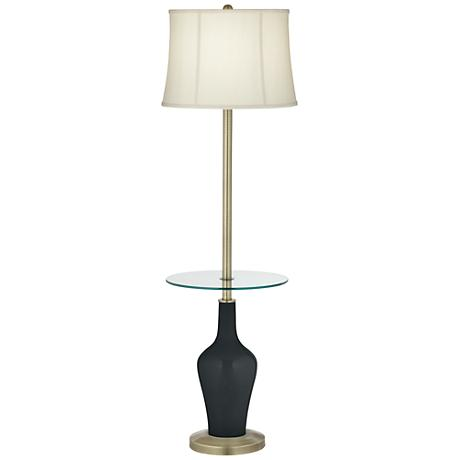 Black of Night Anya Tray Table Floor Lamp