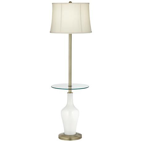 Winter White Anya Tray Table Floor Lamp