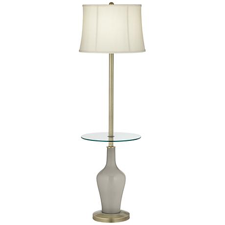 Requisite Gray Anya Tray Table Floor Lamp
