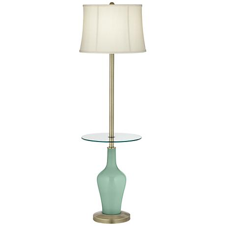 Grayed Jade Anya Tray Table Floor Lamp