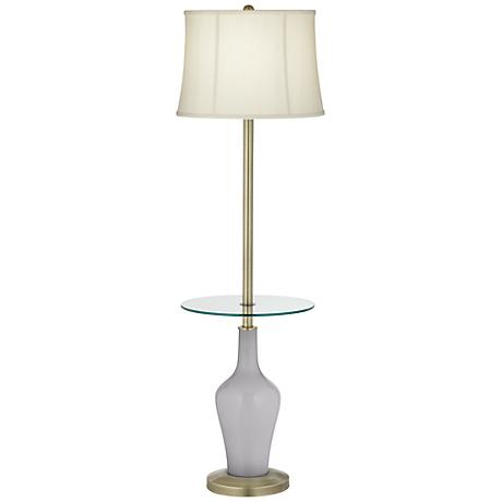 Swanky Gray Anya Tray Table Floor Lamp