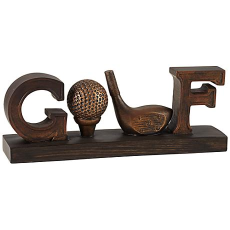 Bronze Golf Sign Decorative Accent