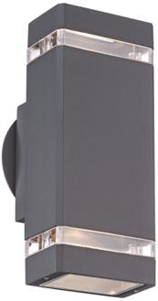 Possini Euro Rectangular Graphite Up/Down Outdoor Wall Light (4C904) 4C904