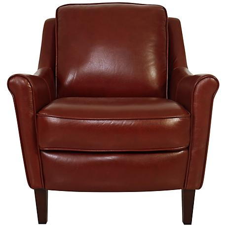 Winfield Chili Pepper Leather Armchair