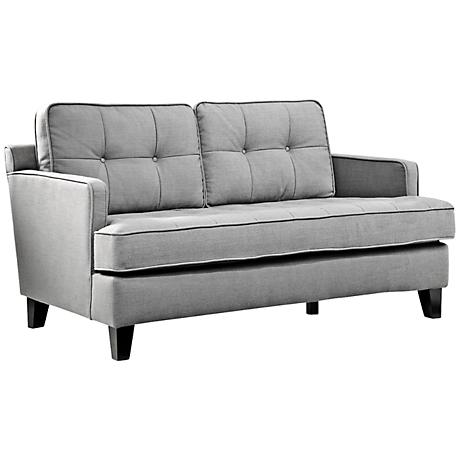 Eden Cement Gray Fabric Loveseat