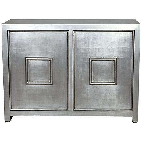 Port 68 Avenue Silver 2-Door Cabinet