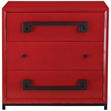 Port 68 Hancock Red 3-Drawer Chest