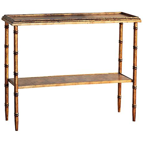 Port 68 Doheny Gold Console Table