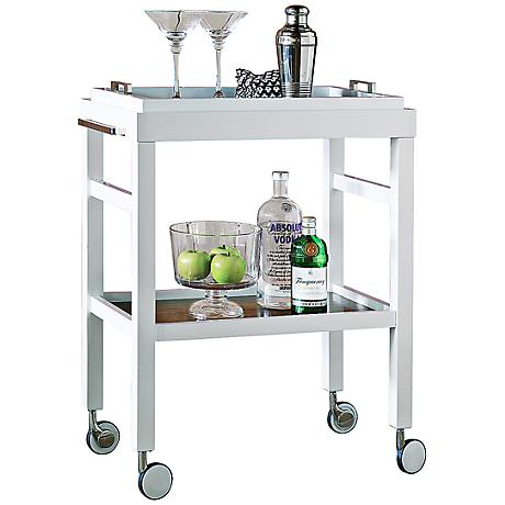 Port 68 Avalon White Bar Cart