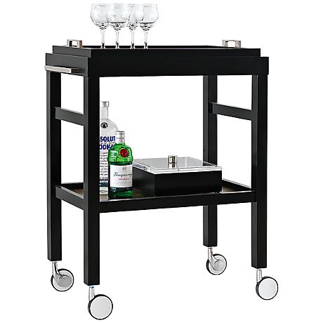 Port 68 Avalon Black Bar Cart