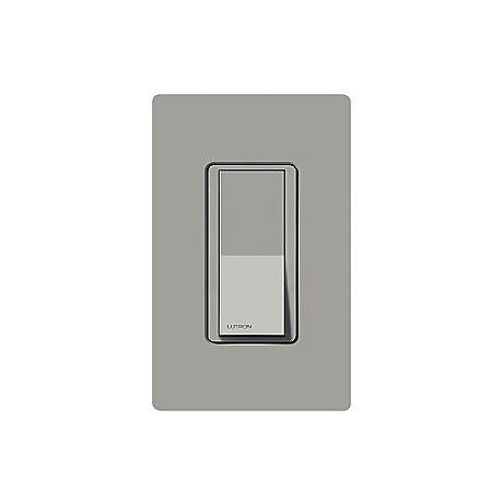 Lutron Claro Gray Single Pole Switch