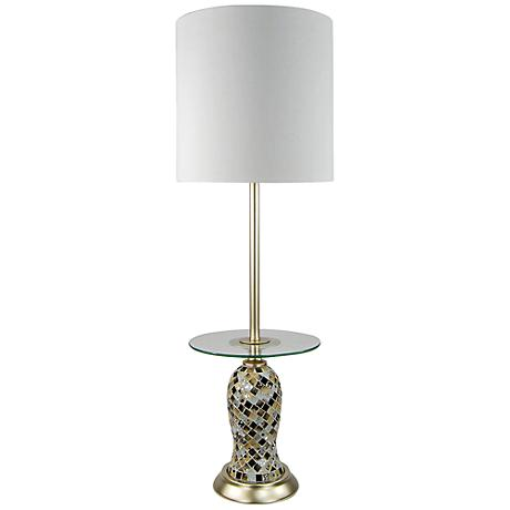 Tivoli Mosaic Glass Tray Console Table Lamp
