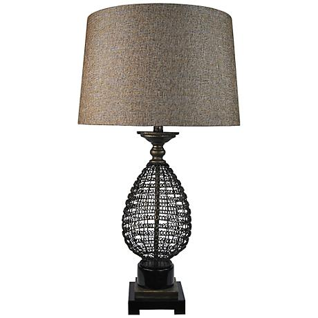 Monza Black Mesh Table Lamp