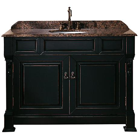 "James Martin Brookfield 48""W Black Tropical Bath Vanity"