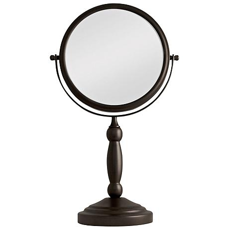 Seaton Bronze 1x/10x Dual Magnification Vanity Mirror