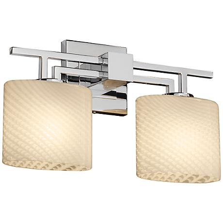 "Justice Fusion 16 1/2"" Wide Chrome Bathroom Light"