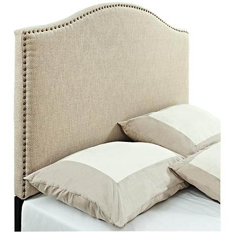 Abigail Tan Linen Panel Headboard