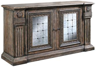 Alexandreah Two-Tone Wood and Mirror Credenza (4F107)