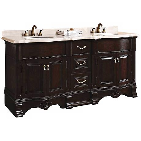 "James Martin Classico 72"" Wide Marble Double Bath Vanity"